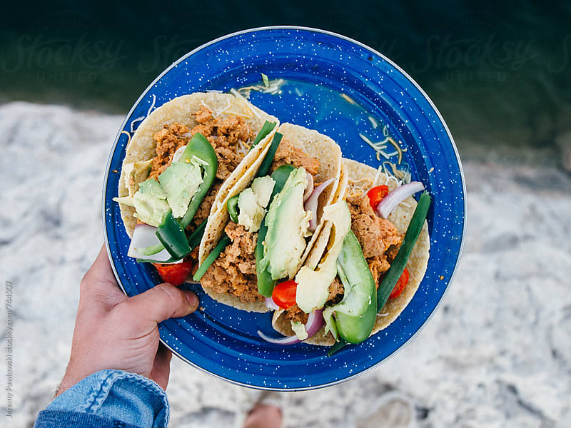 Tacos with vegetables  by Jeremy Pawlowski for Stocksy United