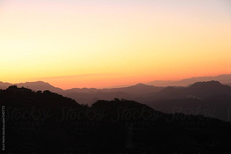 Sunset hills by Kurt Heim for Stocksy United