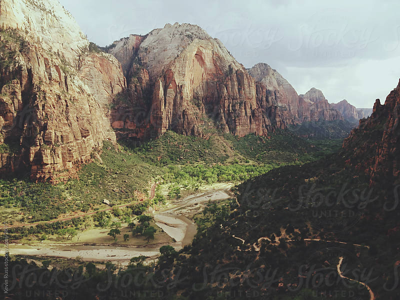 Zion Canyon and Trail by Kevin Russ for Stocksy United