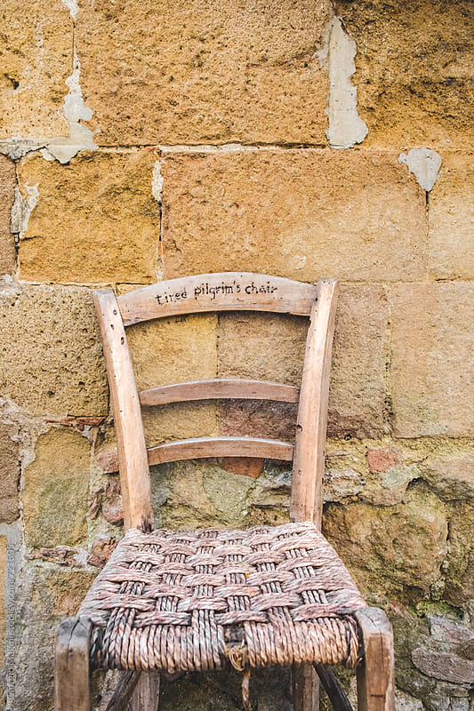 Tired Pilgrim's Chair, Old Tuscan Village by Giorgio Magini for Stocksy United