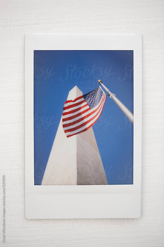 Obelisk and American Flag in Washington DC by Good Vibrations Images for Stocksy United