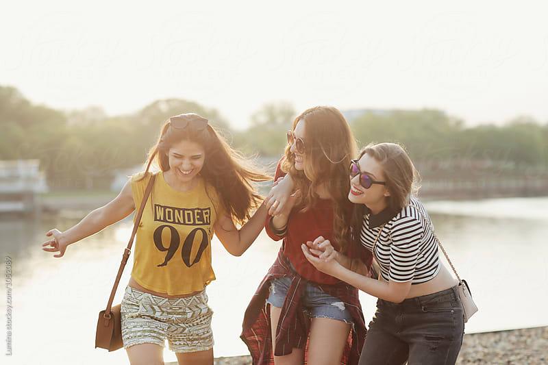 Girls Having Fun by Lumina for Stocksy United
