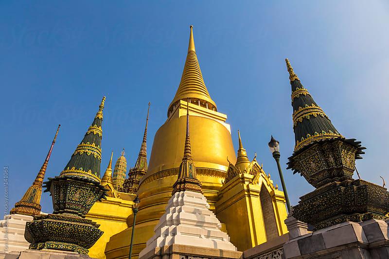 Wat Phra Kaew (Temple of the Emerald Buddha), Bangkok, Thailand by Tom Uhlenberg for Stocksy United