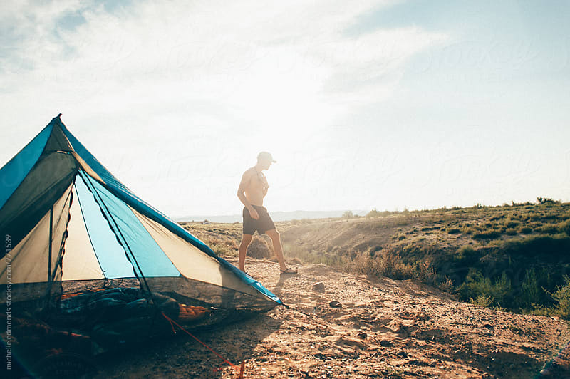 Camping at Lake Powell by michelle edmonds for Stocksy United