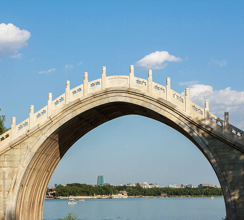 Marble arch in the summer palace,Beijing by zheng long for Stocksy United