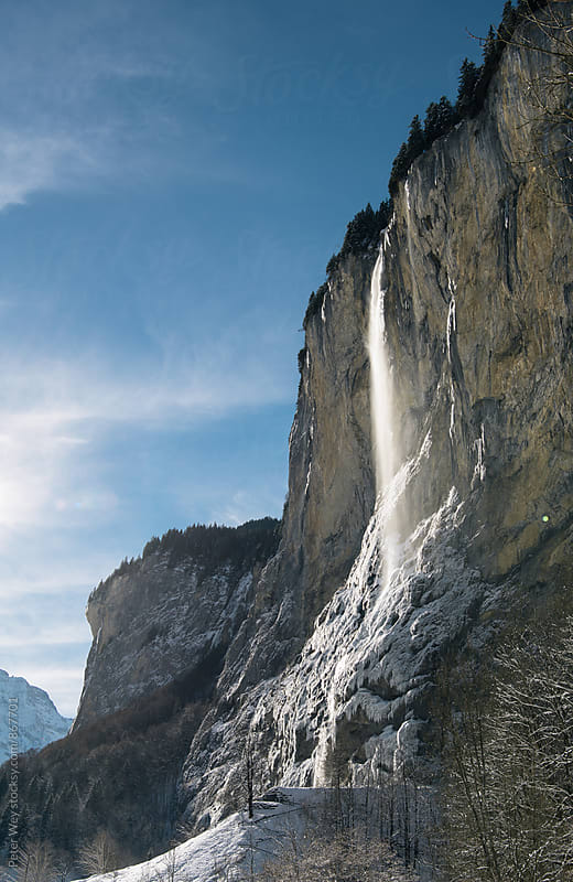 Staubbach falls at Lauterbrunnen by Peter Wey for Stocksy United