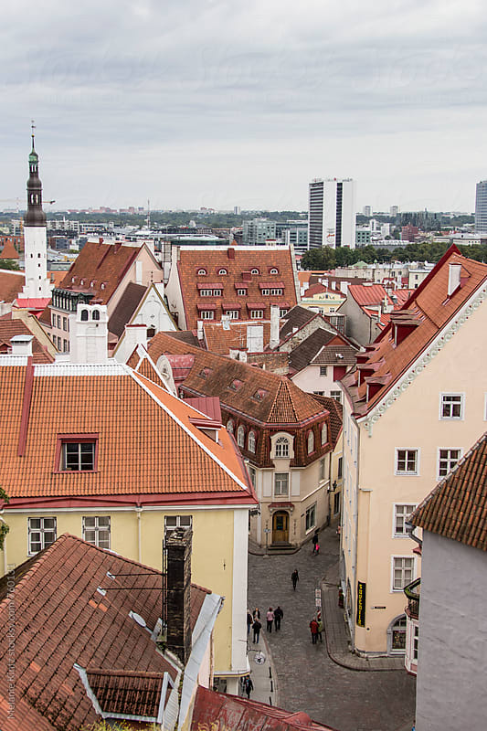 View to Tallinn's old town  by Melanie Kintz for Stocksy United