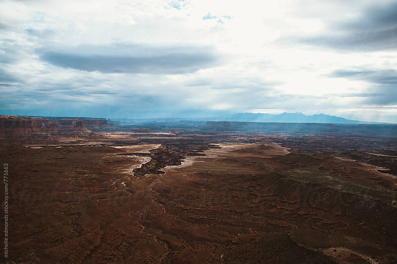 Overlooking a Canyon at Canyonlands by michelle edmonds for Stocksy United