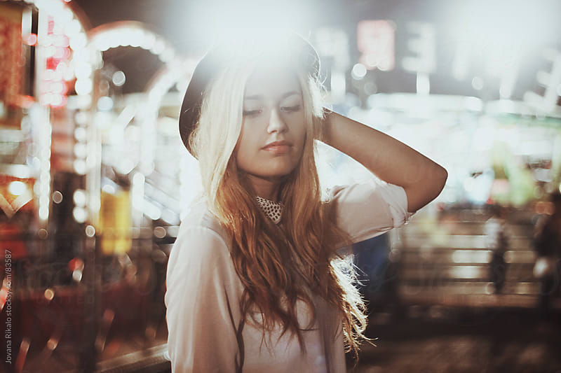 Young beautiful girl at the carnival by Jovana Rikalo for Stocksy United