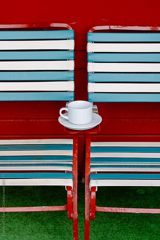 Cup of Coffee by the Pool in San Francisco by Raymond Forbes LLC for Stocksy United