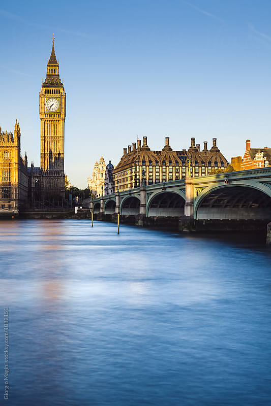 Big Ben and River Thames, London at Dawn by Giorgio Magini for Stocksy United