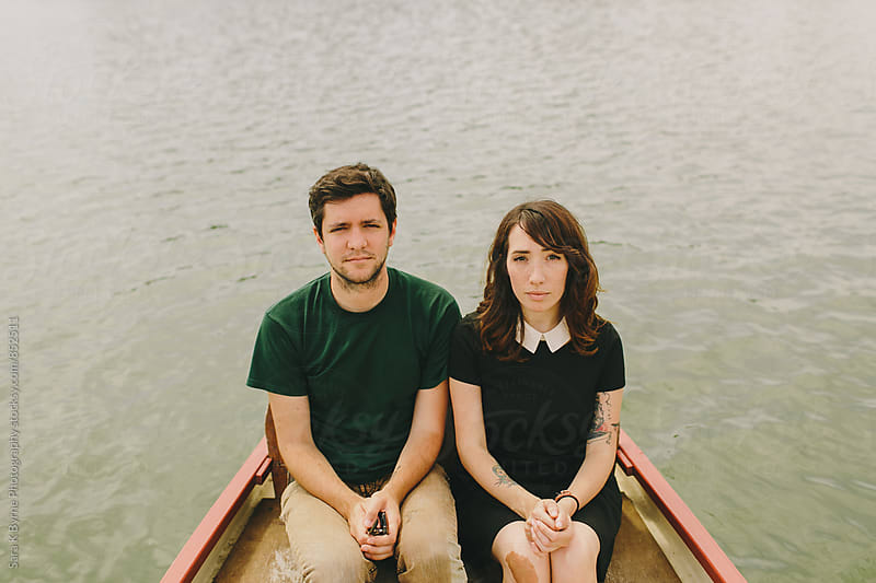 Love in a Boat by Sara K Byrne Photography for Stocksy United