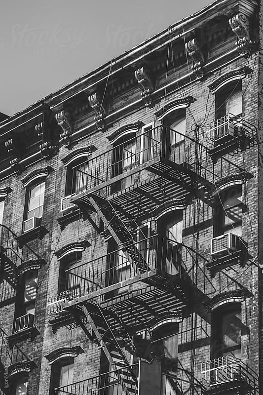 facade,stairs,New York by Igor Madjinca for Stocksy United