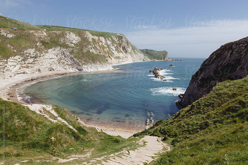 Overview of coast in Dorset, england by Robert Kohlhuber for Stocksy United
