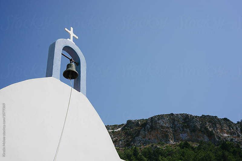 Church with bell, Greece by Kirstin Mckee for Stocksy United