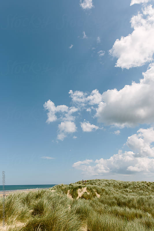 Sand dunes and a big sky. Norfolk. by Helen Rushbrook for Stocksy United