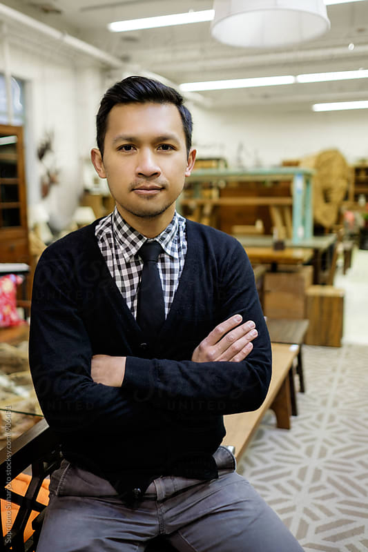 Small business at his furniture store by Suprijono Suharjoto for Stocksy United