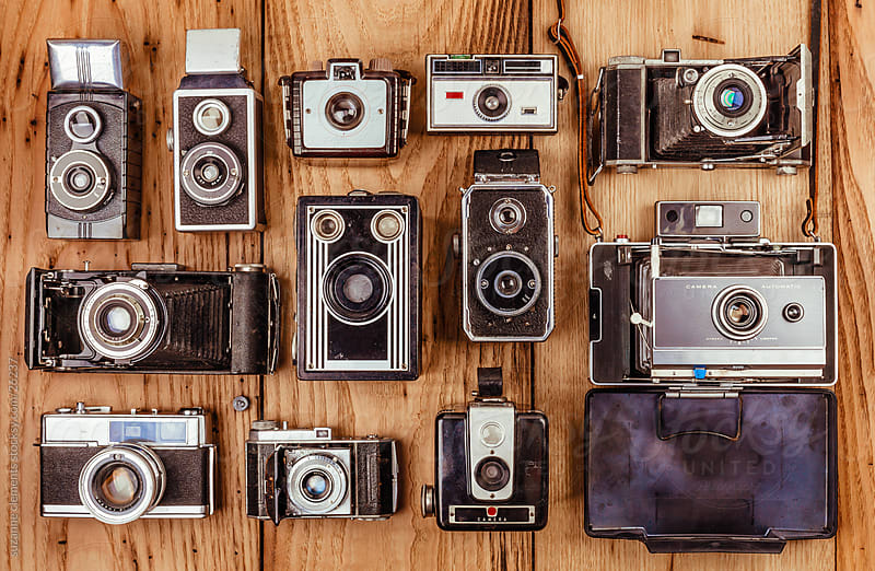Collection of Vintage and Antique Cameras by suzanne clements for Stocksy United