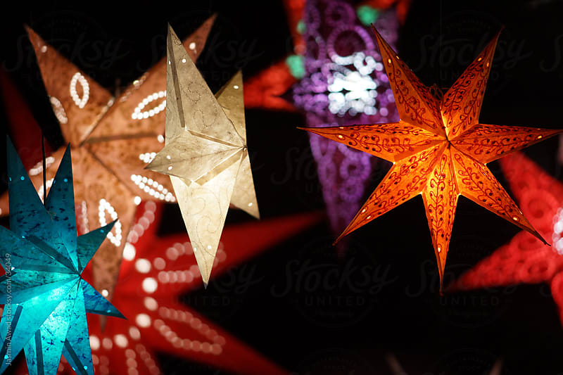 Beautiful Holiday Christmas Stars by Jasmin Awad for Stocksy United