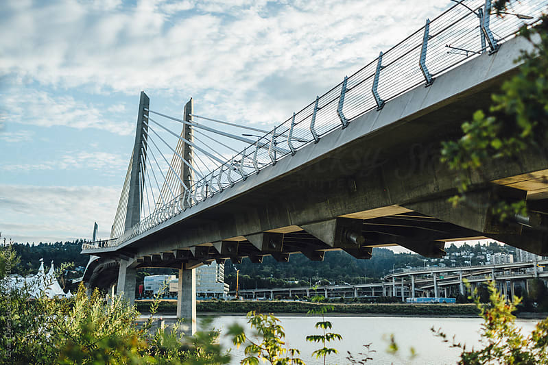 Portland Bridge Across River by Evan Dalen for Stocksy United