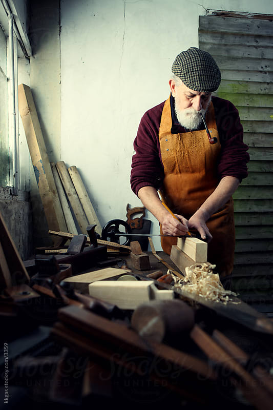 Traditional carpenter at work by kkgas for Stocksy United