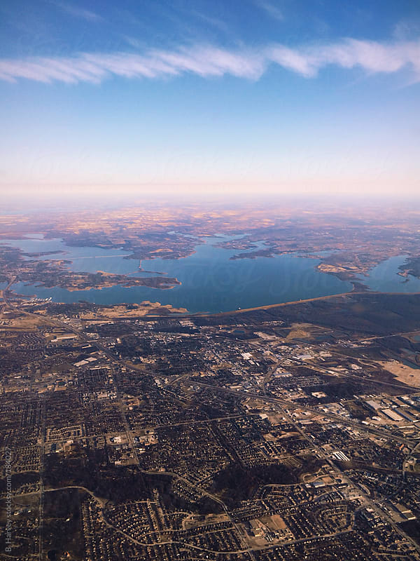 View of City from the Sky by B. Harvey for Stocksy United