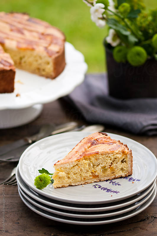 Pastiera napoletana, a slice on a plate by Laura Adani for Stocksy United