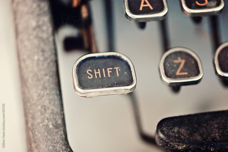 vintage typewriter shift key by Gillian Vann for Stocksy United
