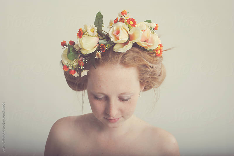Girl with flower crown by Jovana Vukotic for Stocksy United