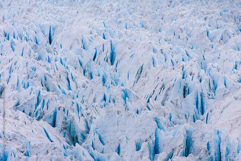 Glacier Ice pattern in Perito Moreno glacier, Argentina, Patagon by Alejandro Moreno de Carlos for Stocksy United