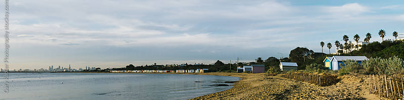 Brighton Bathing Boxes Panorama by Gary Radler Photography for Stocksy United