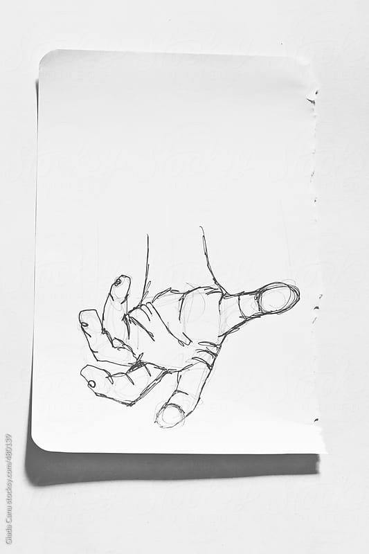 Sketch of a hand by Giada Canu for Stocksy United