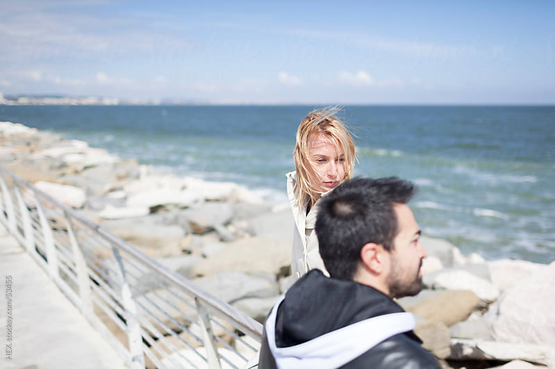 Couple at the Sea  by HEX. for Stocksy United