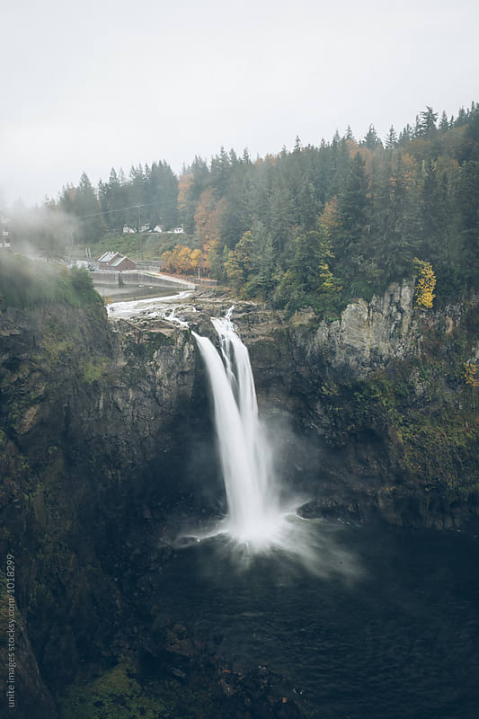 Snowqualmie Falls by unite  images for Stocksy United
