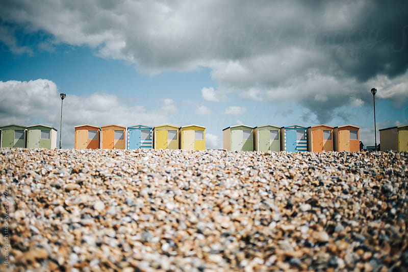 Beach Huts by Hung Quach for Stocksy United