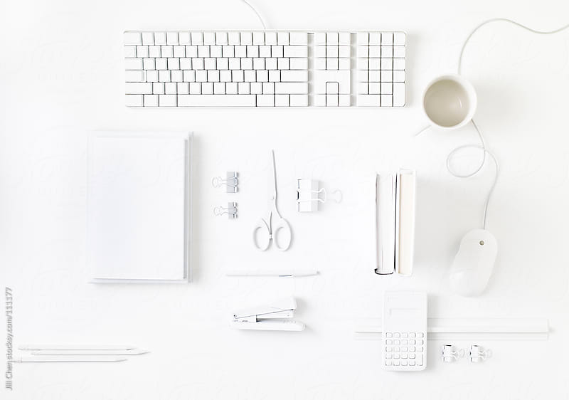 White Desk Top by Jill Chen for Stocksy United