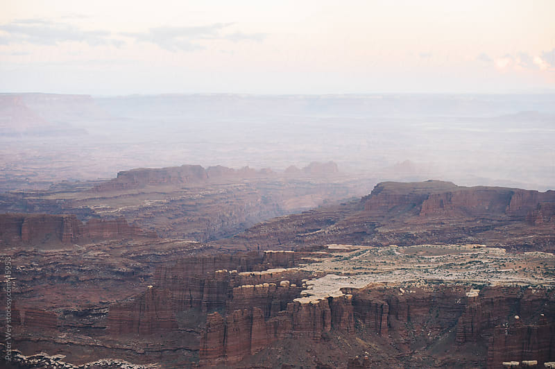Distant canyons in canyonlands national park, utah, usa by Peter Wey for Stocksy United