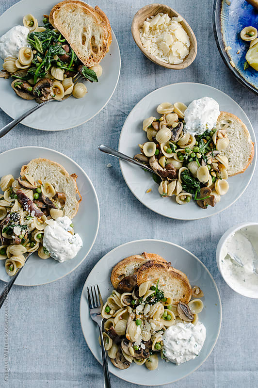 Orecchiette Spring Primavera by Cameron Whitman for Stocksy United