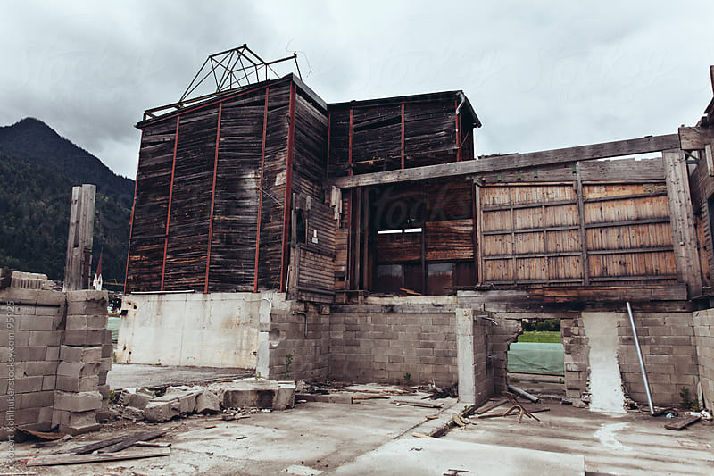 Old abandoned factory by Robert Kohlhuber for Stocksy United