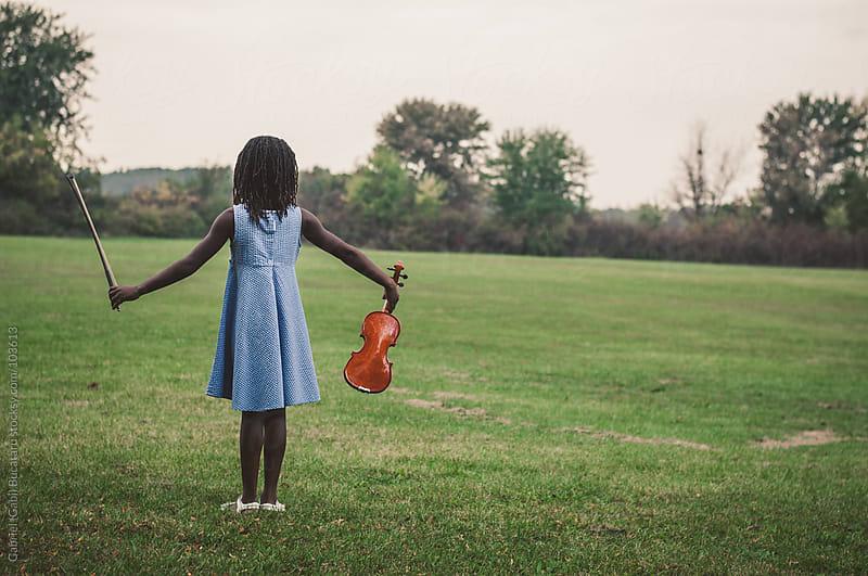 Girl and Violin by Gabriel (Gabi) Bucataru for Stocksy United