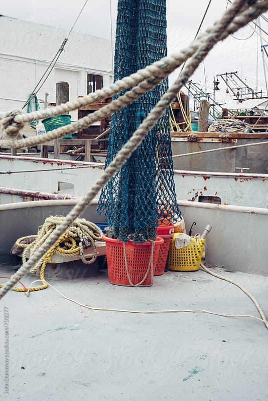 Shrimp nets by John Dunaway for Stocksy United