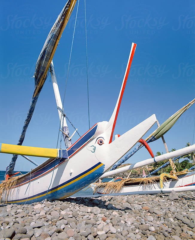 Perahu boats, Sanur Beach, Bali, Indonesia, Southeast Asia by Gavin Hellier for Stocksy United