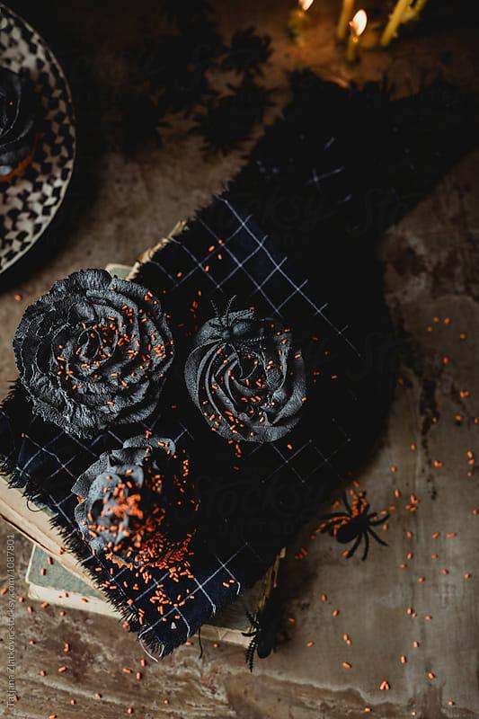 Halloween cupcakes by Tatjana Ristanic for Stocksy United
