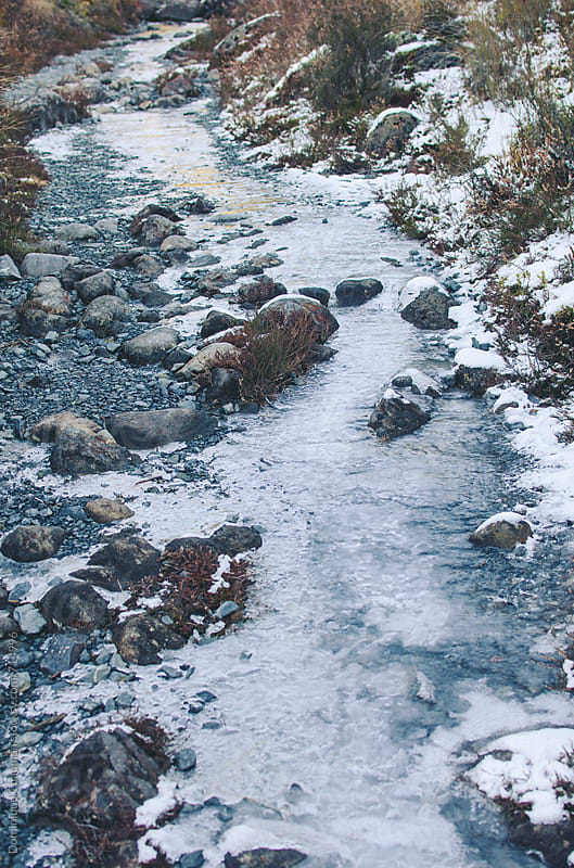 Stream frozen solid by Dominique Chapman for Stocksy United