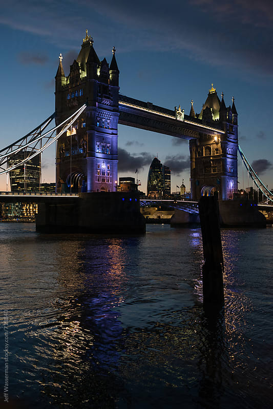 Tower of London at Night by Jeff Wasserman for Stocksy United