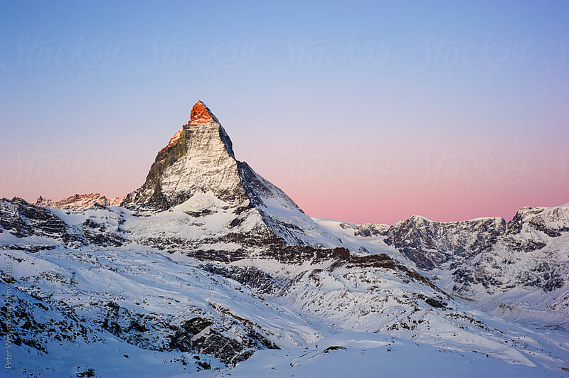 Matterhorn at sunrise by Peter Wey for Stocksy United