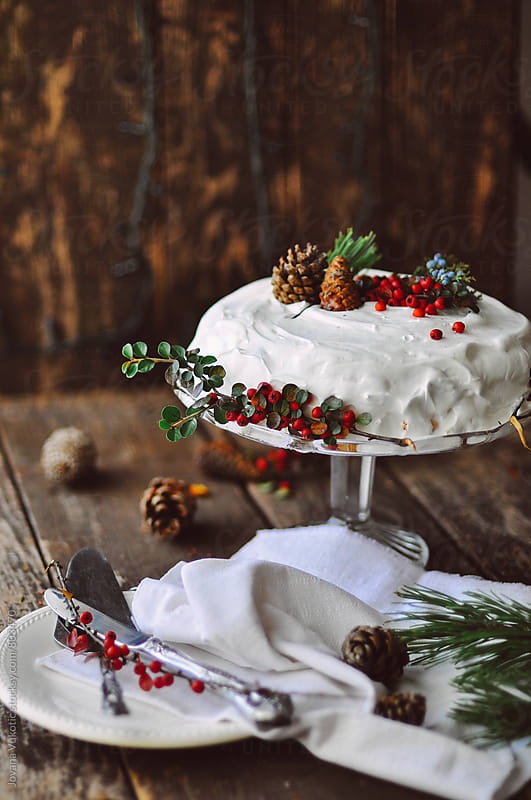 christmas cake by Jovana Vukotic for Stocksy United