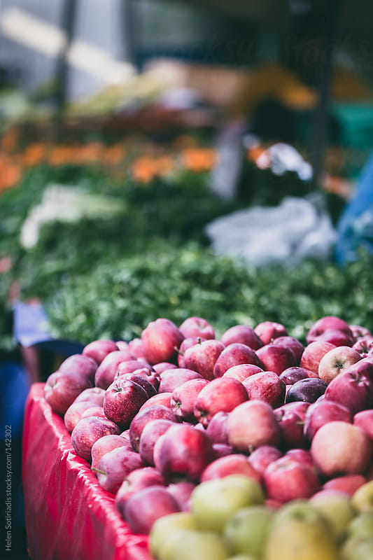 Apples in an Open Market by Helen Sotiriadis for Stocksy United