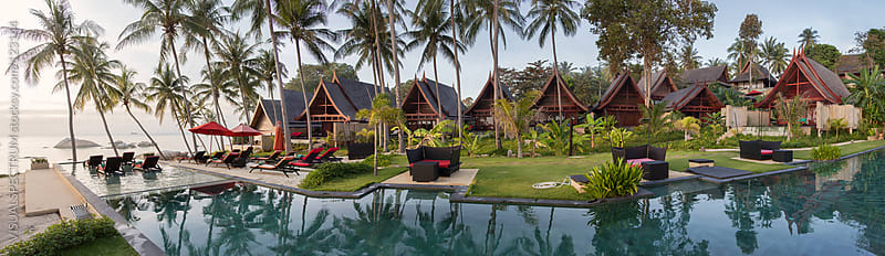 Balinese Villas in Tropical Resort by VISUALSPECTRUM for Stocksy United