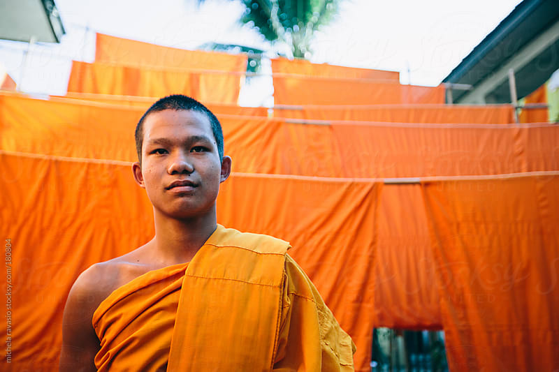 Portrait of a Buddhist monk by michela ravasio for Stocksy United